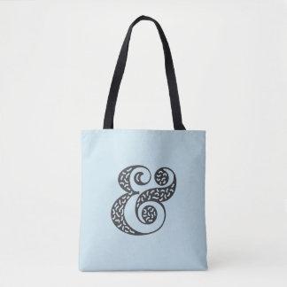 Blaue Taschentasche des schwarzen strukturierten Tasche