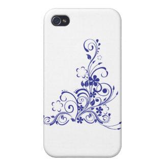 Blaue Tätowierungs-Blumenexplosion iPhone 4/4S Hülle