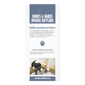Blaue Tatzen-Druck-Hundesorgfalt Werbekarte