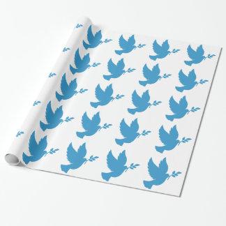 Blaue Taube Geschenkpapier