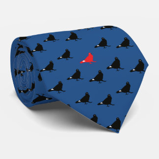 Blaue Tauben-Krawatte Bedruckte Krawatten
