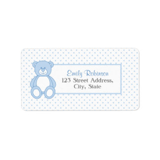 Blaue Teddybär-Adressen-Etiketten Adressaufkleber