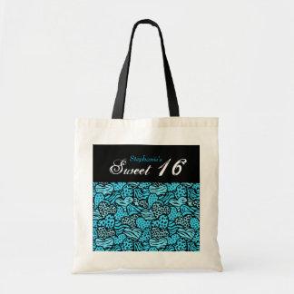 Blaue Tiertasche musterherzen Bonbons 16 Tragetasche