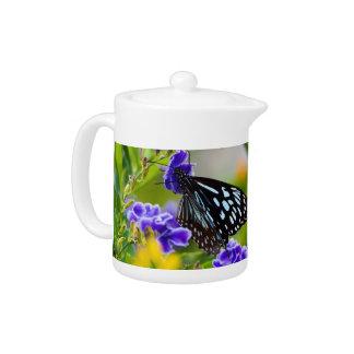 Blaue Tiger-Schmetterlingsteekanne