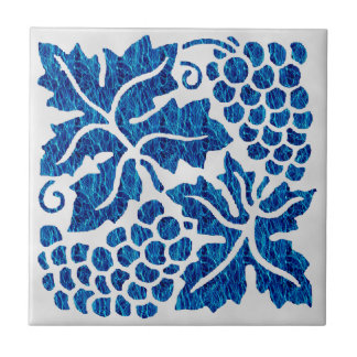 Blaue Trauben Keramikfliese