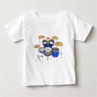 Blaue Trommel-Ausrüstung: Baby T-shirt