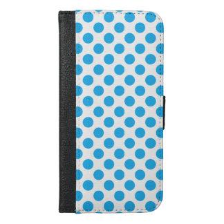 Blaue Tupfen iPhone 6/6s Plus Geldbeutel Hülle