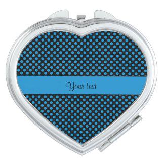 Blaue Tupfen Taschenspiegel