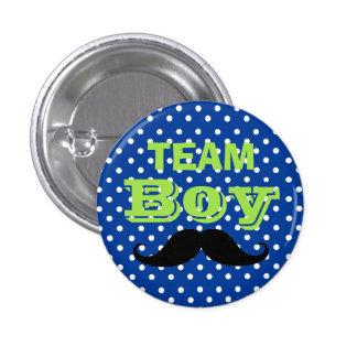 Blaue Tupfen-Team-Jungen-Babyparty Runder Button 3,2 Cm