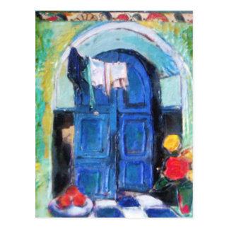 Blaue Tür - Postkarte