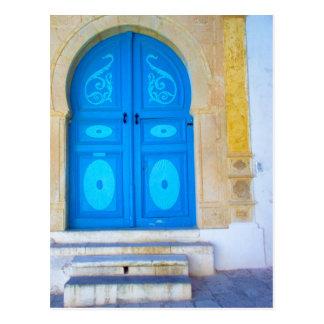 Blaue Tür Postkarte