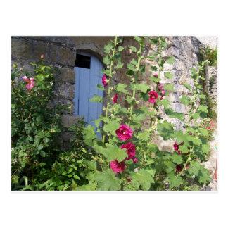Blaue Tür Provence-Postkarte Postkarte