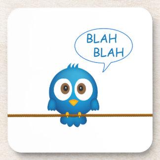 Blaue Twittervogelunterhaltung Untersetzer