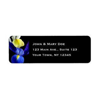Blaue u. gelbe Iris-Blumen 4b