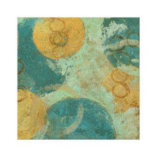 Blaue u. gelbe Kreise Leinwanddruck