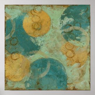 Blaue u. gelbe Kreise Poster