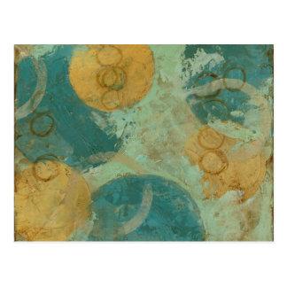Blaue u. gelbe Kreise Postkarte