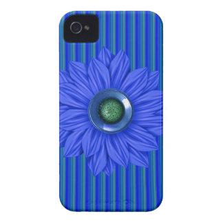blaue u. grüne Imitat-Blume u. Edelstein IPhone iPhone 4 Case-Mate Hülle