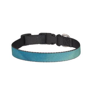 Blaue u. grüne MarmorWasserfarbe Haustierhalsband