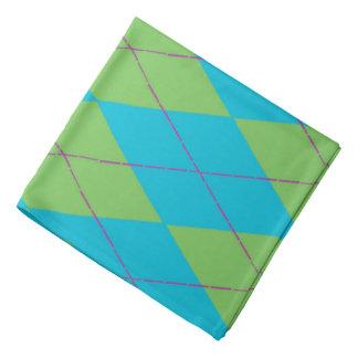 Blaue u. grüne Raute Halstuch