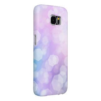 BLAUE u. LILA GLITZERN - Samsungs-Galaxie-Kasten