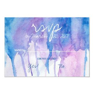 Blaue u. lila Watercolor | UAWG Karte