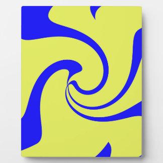 Blaue und gelbe Drehung Fotoplatte