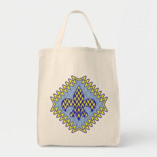 Blaue und gelbe Lilie Einkaufstasche