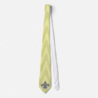 Blaue und gelbe Lilie Personalisierte Krawatten