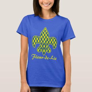 Blaue und gelbe Lilie T-Shirt