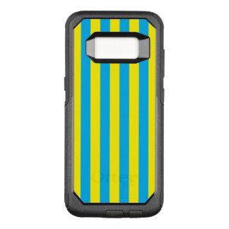 Blaue und gelbe vertikale Streifen OtterBox Commuter Samsung Galaxy S8 Hülle