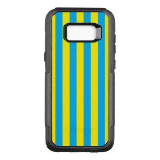 Blaue und gelbe vertikale Streifen OtterBox Commuter Samsung Galaxy S8+ Hülle