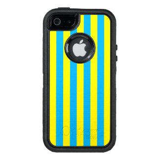 Blaue und gelbe vertikale Streifen OtterBox iPhone 5/5s/SE Hülle