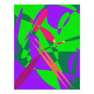 Blaue und grüne abstrakte Zusammensetzung Vollfarbige Flyer
