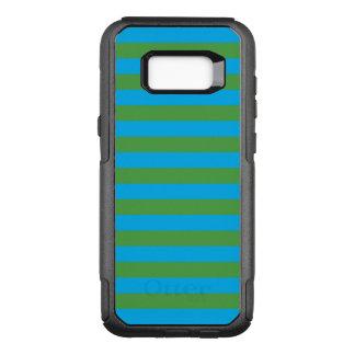 Blaue und grüne horizontale Streifen OtterBox Commuter Samsung Galaxy S8+ Hülle