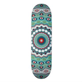 Blaue und grüne Mandala 19,7 Cm Skateboard Deck