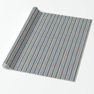 Blaue und grüne Reißverschlüsse Geschenkpapier