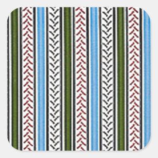 Blaue und grüne Reißverschlüsse Quadratischer Aufkleber