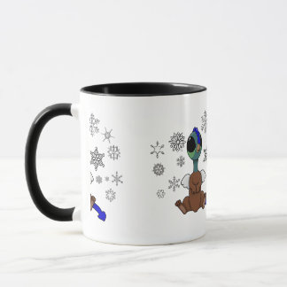 Blaue und grüne Squite (Tasche Griffon) Tasse