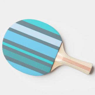 Blaue und grüne Streifen Tischtennis Schläger