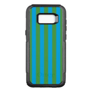 Blaue und grüne vertikale Streifen OtterBox Commuter Samsung Galaxy S8+ Hülle