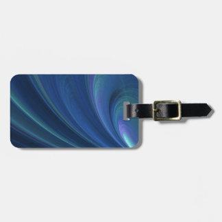 Blaue und grüne weiche Sand-Wellen Kofferanhänger