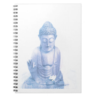 blaue und kleine weiße Maus Buddhas Notizblock