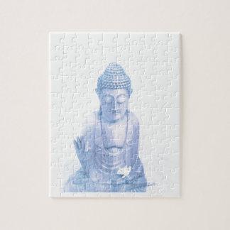 blaue und kleine weiße Maus Buddhas Puzzle