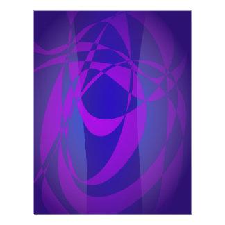 Blaue und lila abstrakte Dunkelheit Flyerdesign