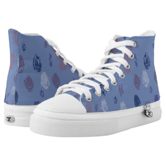 Blaue und lila abstrakte Regentropfen Hoch-geschnittene Sneaker
