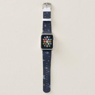 Blaue und lila Bäume Apple Watch Armband