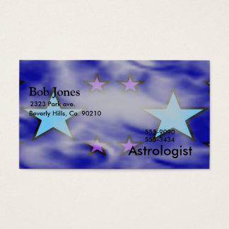 Blaue und lila Sterne in den Wolken Visitenkarte
