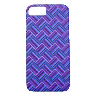 Blaue und lila Streifenwebart iPhone 8/7 Hülle