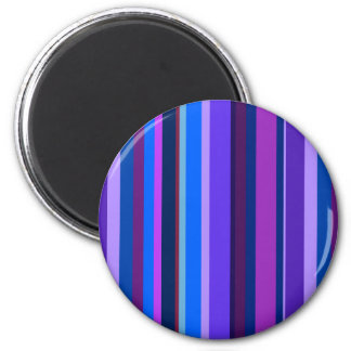 Blaue und lila vertikale Streifen Runder Magnet 5,1 Cm